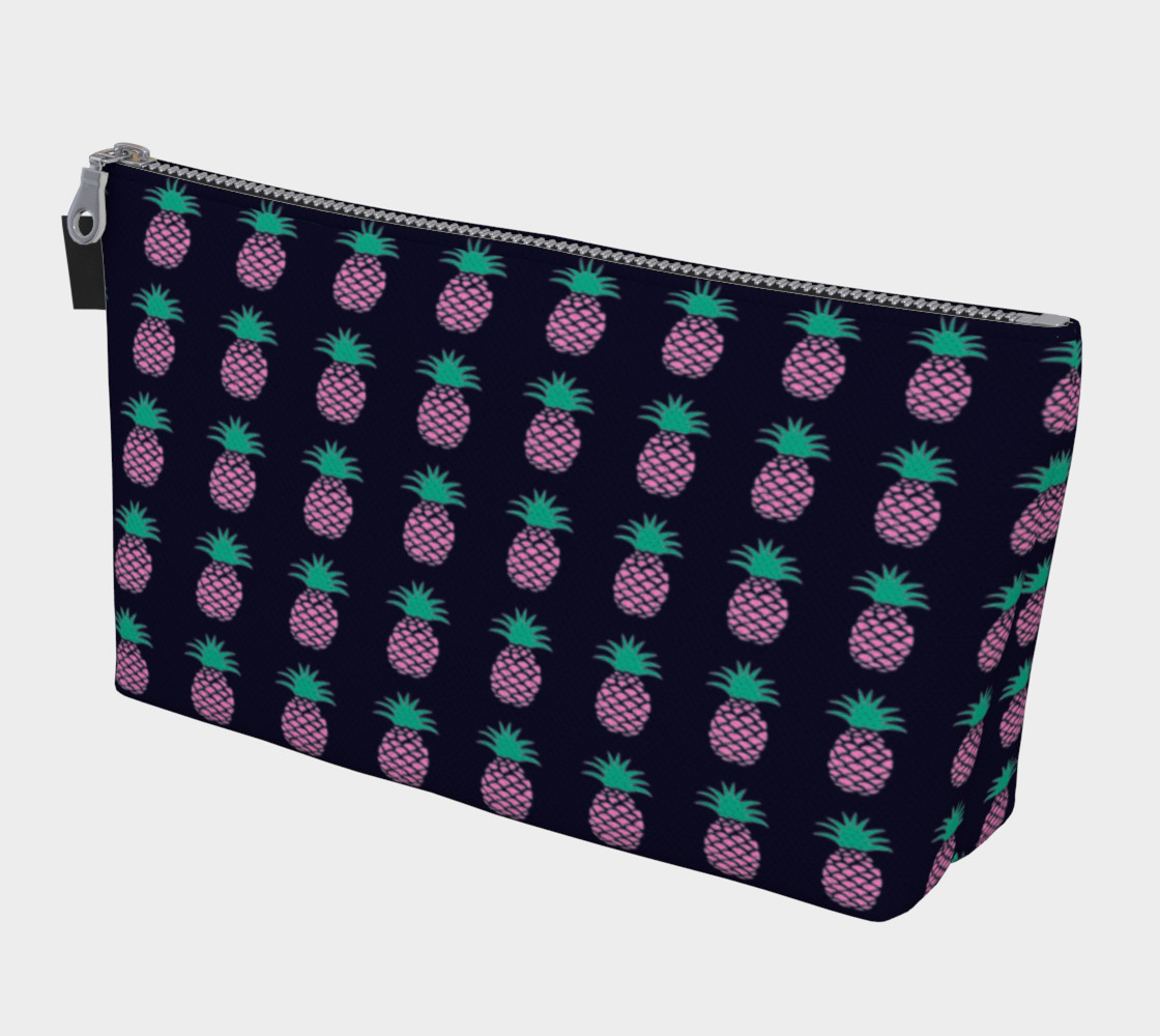 Pineapple - Pink and Green on Navy preview #1