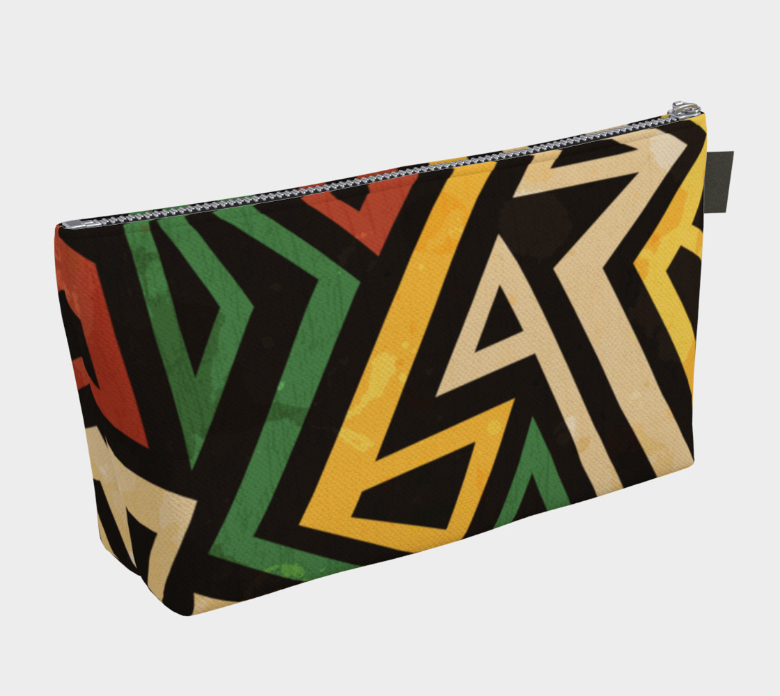 Afrocentric Geometric makeup bag (print by Gudinny) preview #2