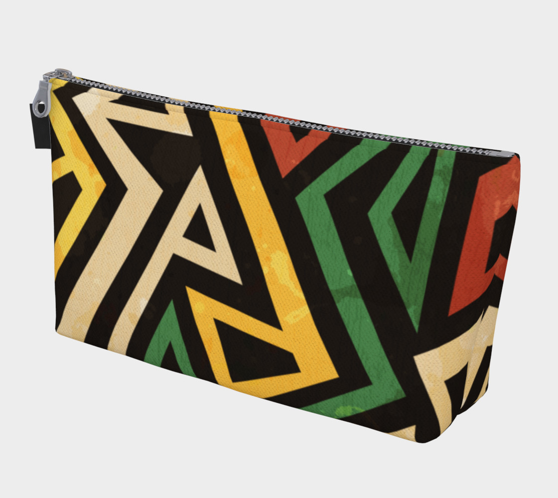 Afrocentric Geometric makeup bag (print by Gudinny) preview #1