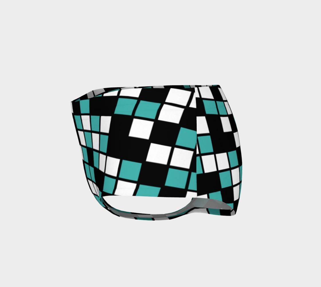 Aperçu de Verdigris, Black, and White Random Mosaic Squares #3