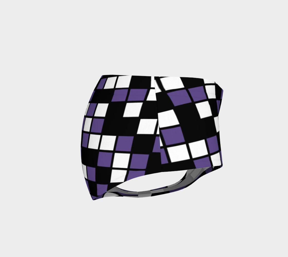 Aperçu de Ultra Violet Purple, Black, and White Random Mosaic Squares #4