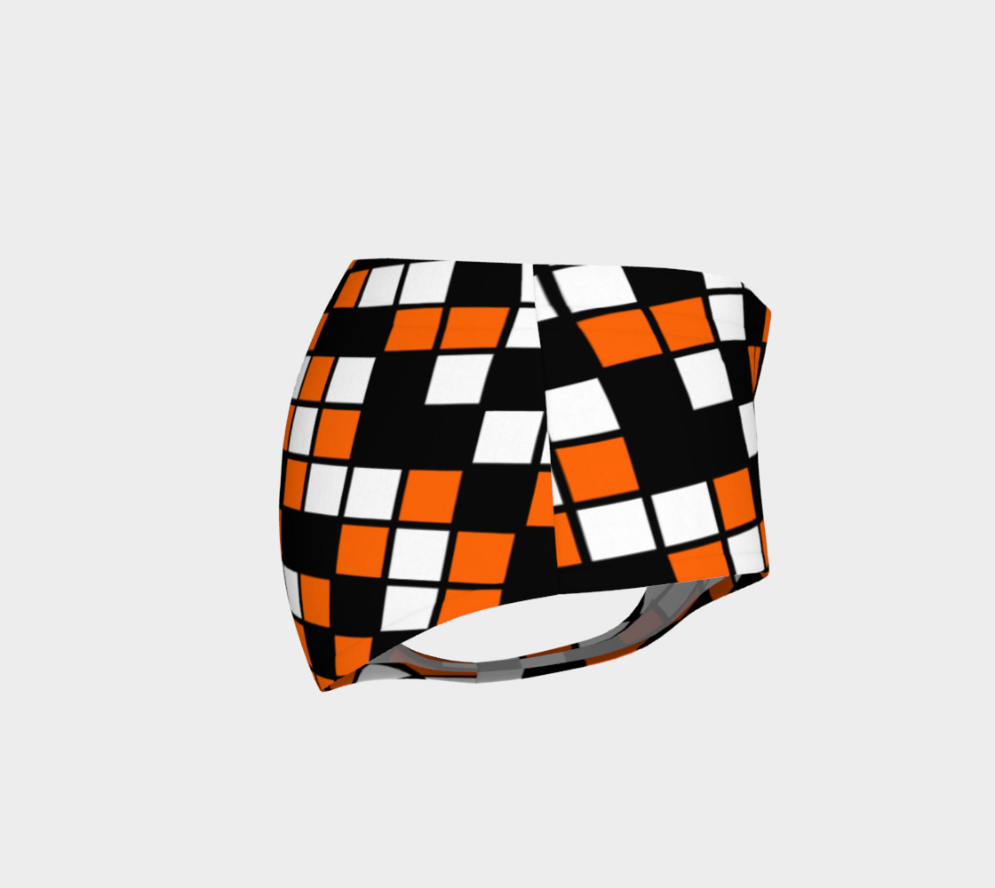 Orange, Black, and White Random Mosaic Squares preview #4