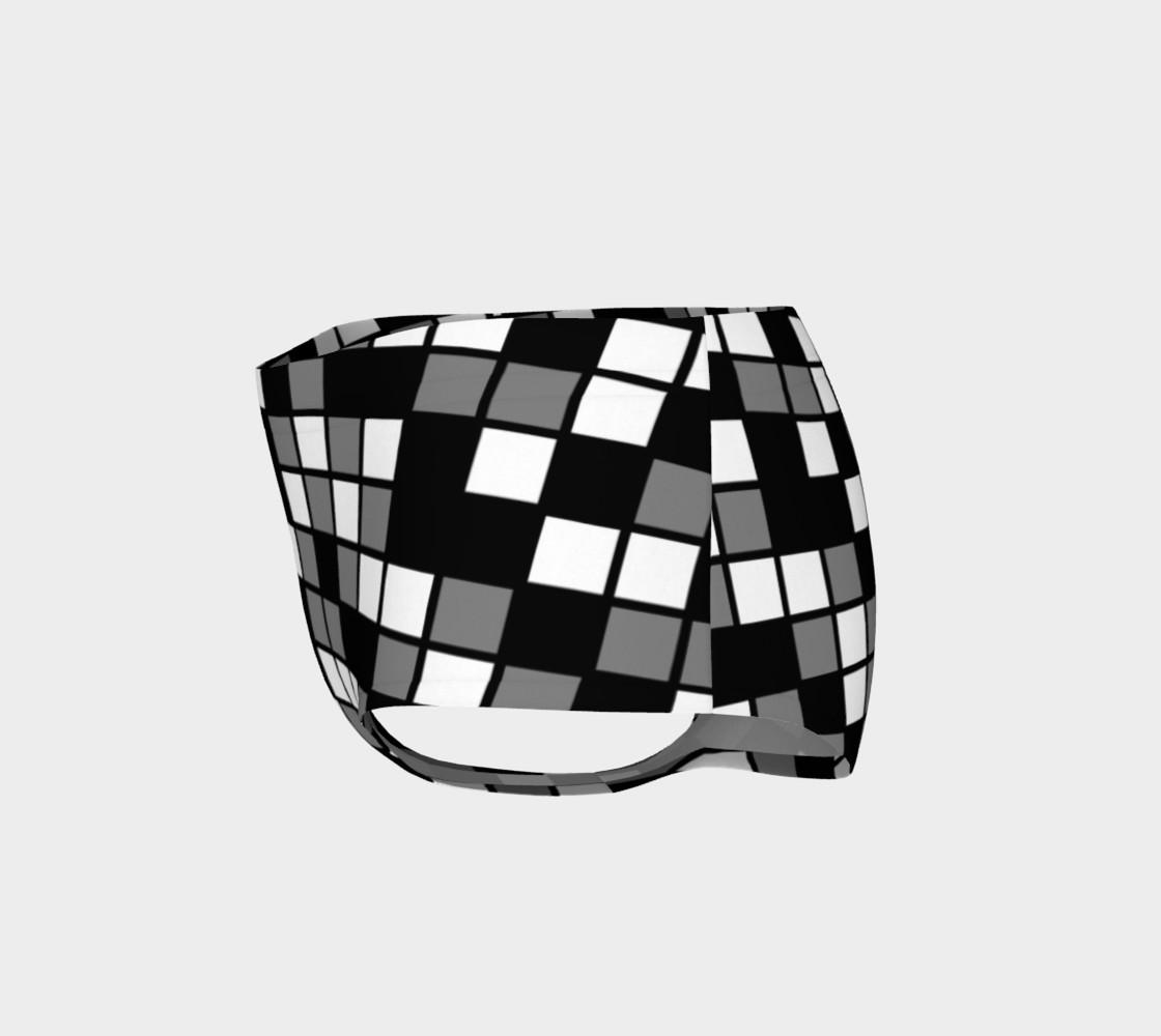 Grey, Black, and White Random Mosaic Squares preview #3