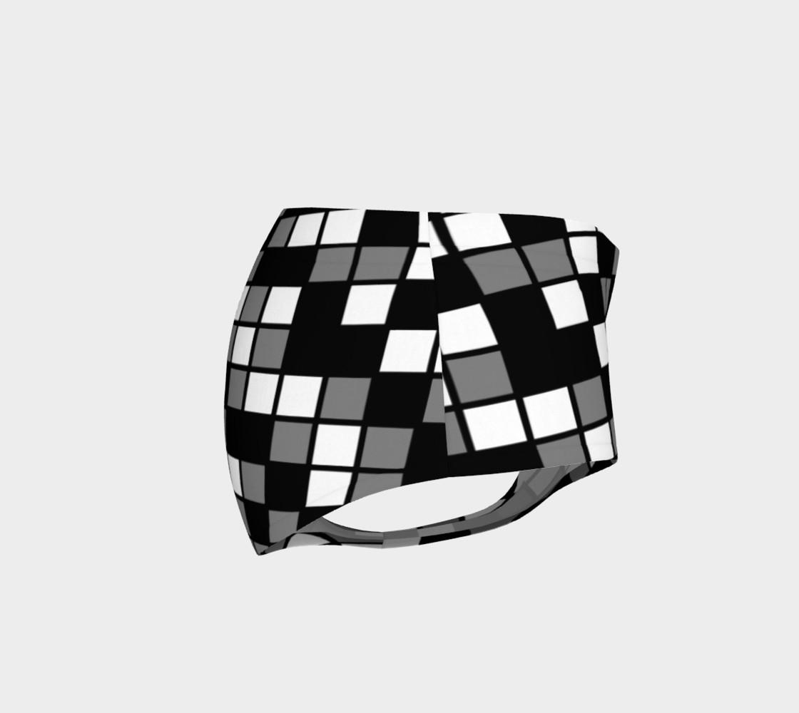 Grey, Black, and White Random Mosaic Squares preview #4