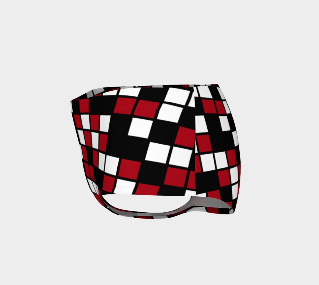 Dark Red, Black, and White Random Mosaic Squares preview #3