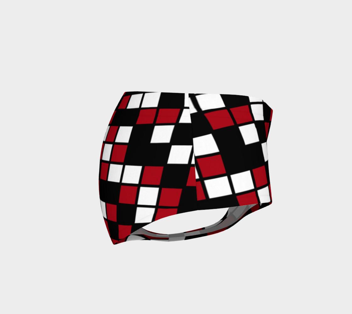 Dark Red, Black, and White Random Mosaic Squares preview #4