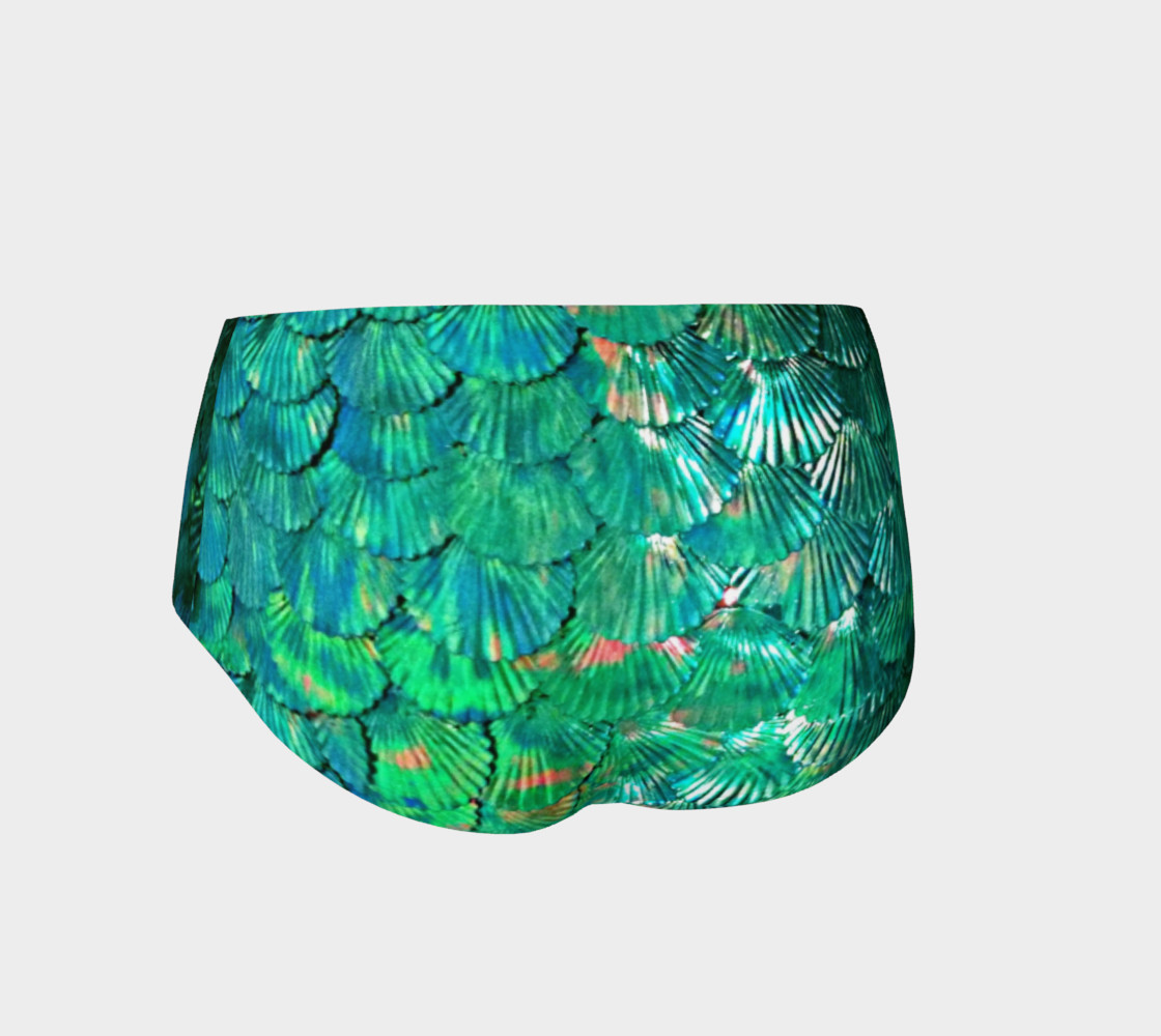 Green Mermaid Scale Booty Shorts  preview #2