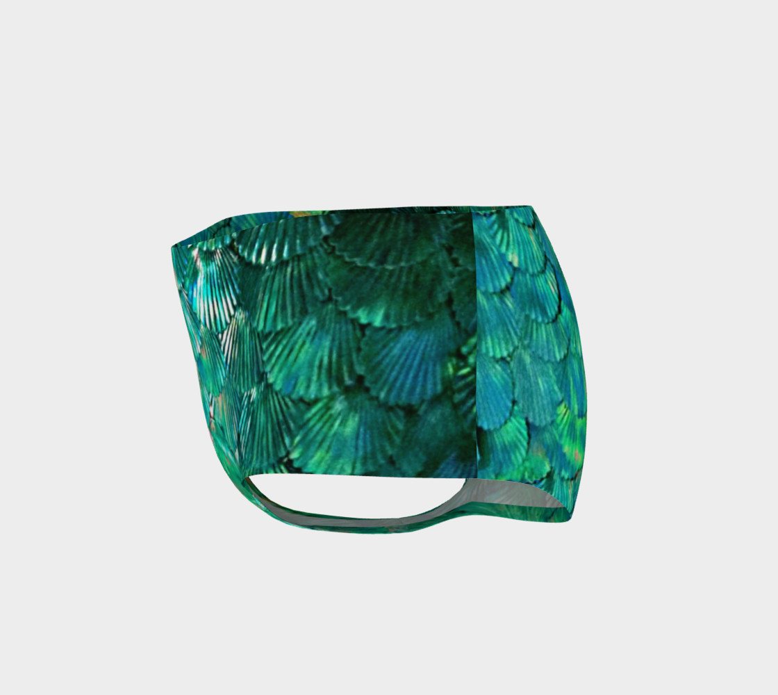Green Mermaid Scale Booty Shorts  preview #3