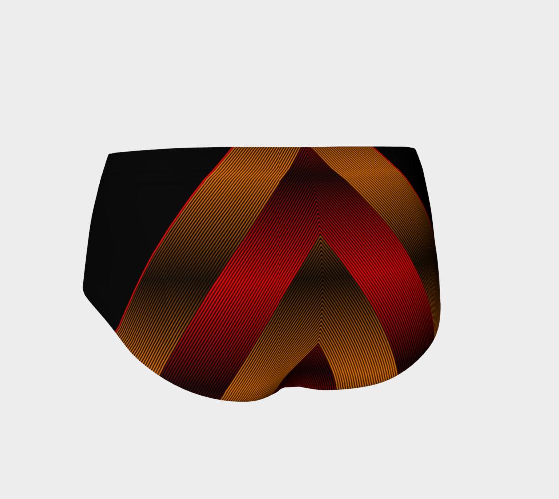 Ombre Stripe Black Red Orange preview #2