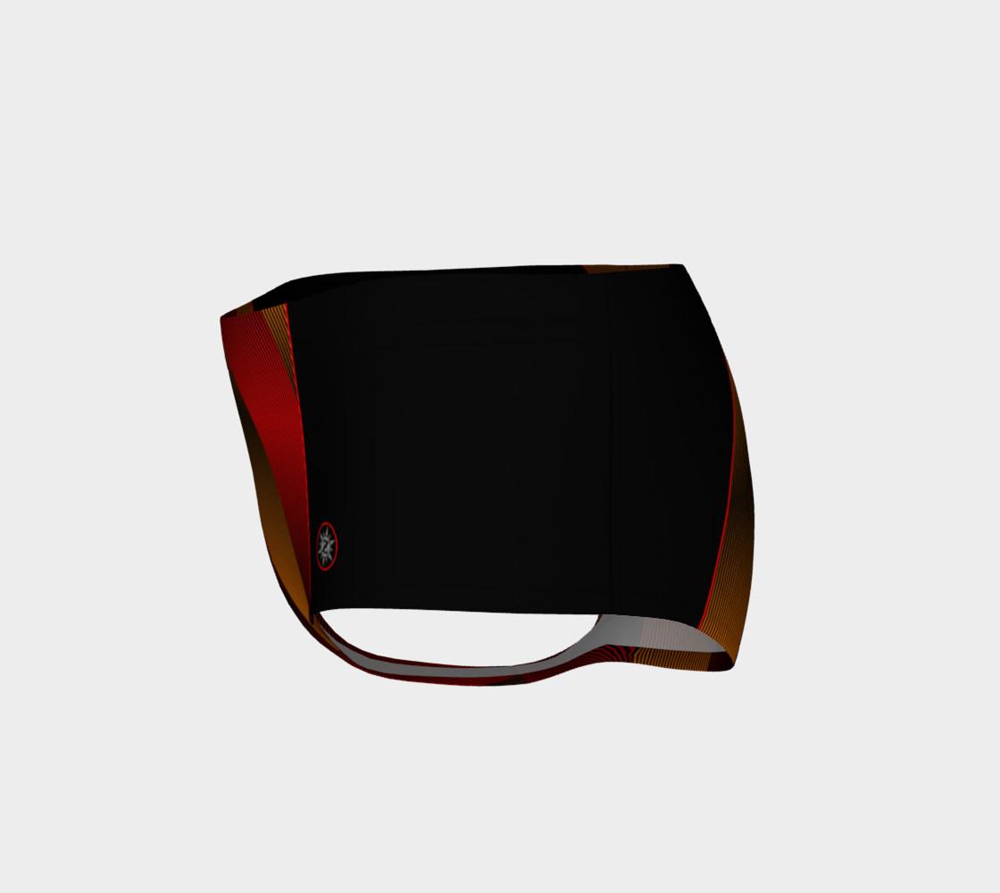 Ombre Stripe Black Red Orange preview #3