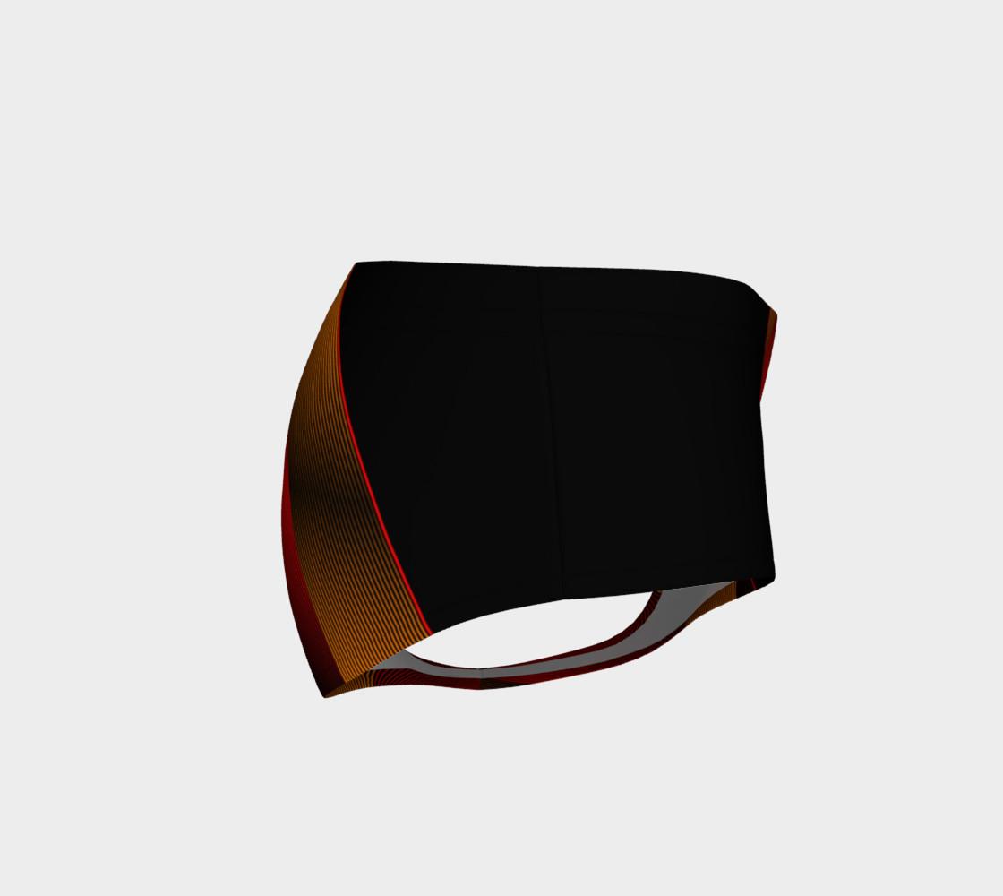 Ombre Stripe Black Red Orange preview #4