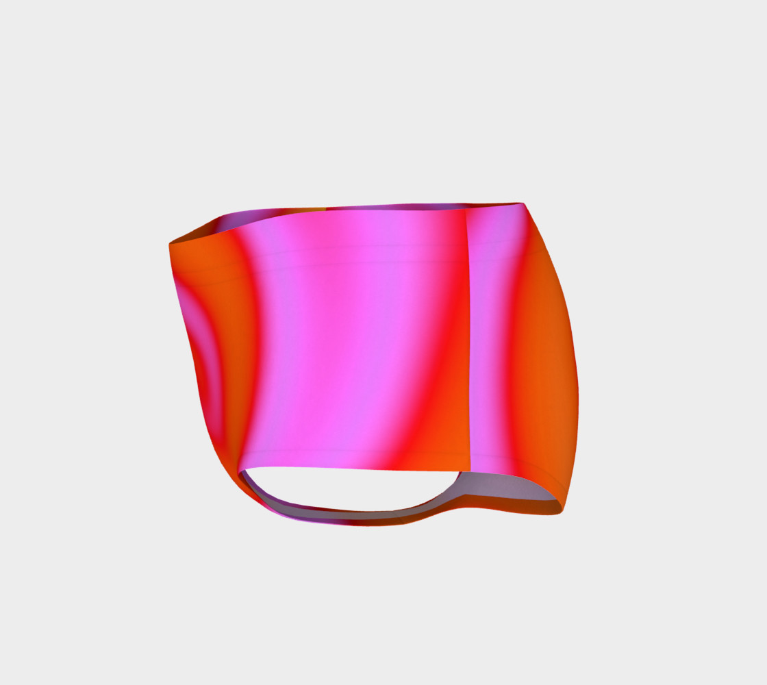 Bright Colorful Orange Pink Swirl Abstract preview #3