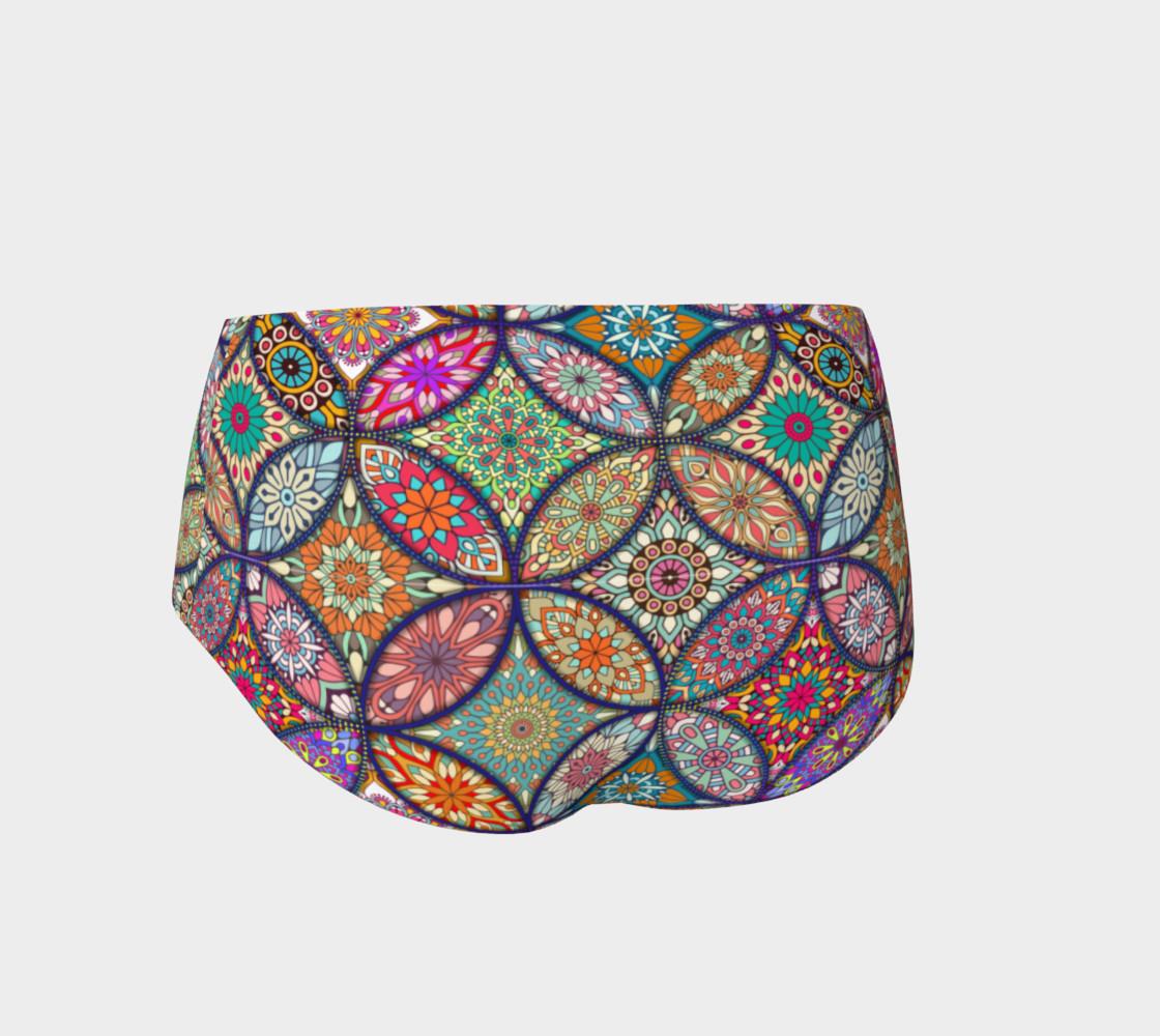Vibrant Mandalas Mini Shorts preview #2