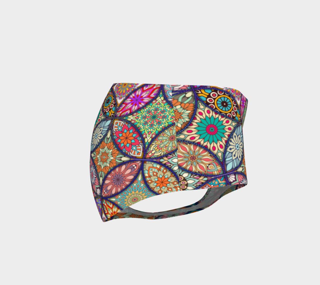 Vibrant Mandalas Mini Shorts preview #4