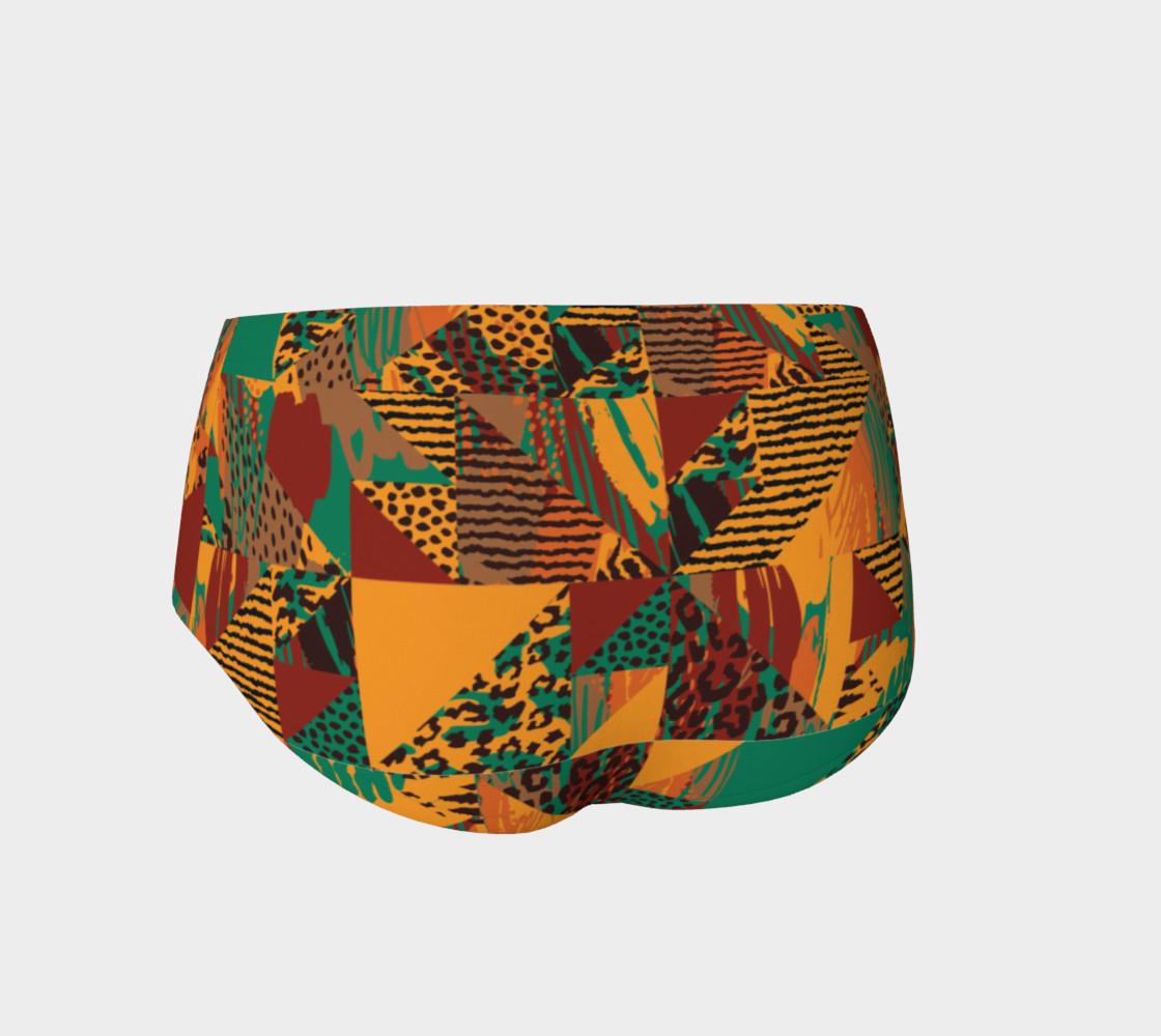 Abstract Safari Print Mini Shorts preview #2