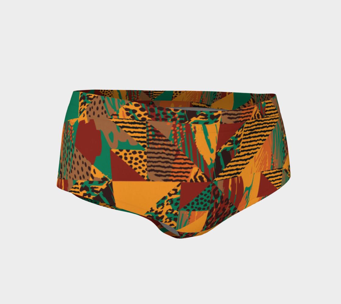 Abstract Safari Print Mini Shorts preview #1
