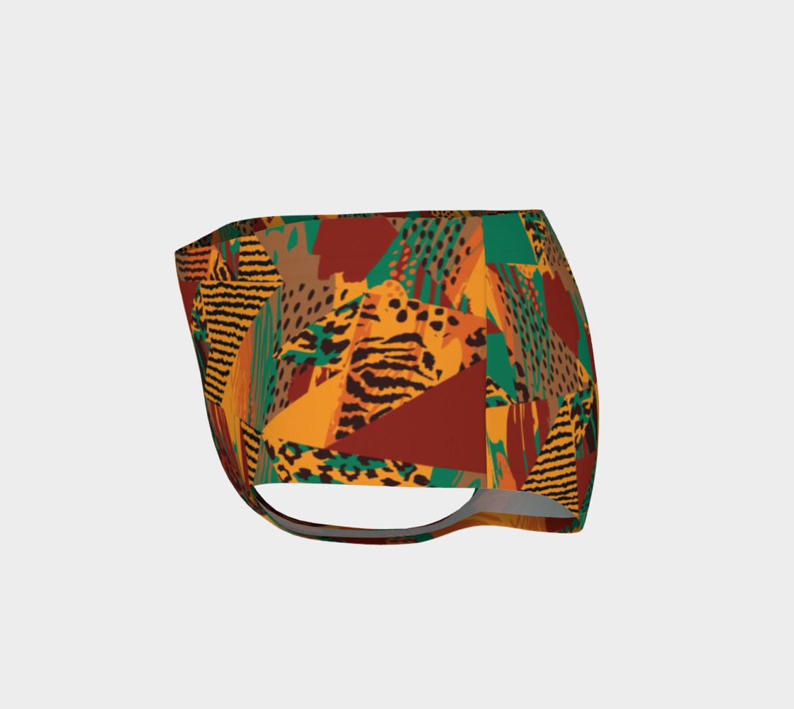 Abstract Safari Print Mini Shorts preview #3