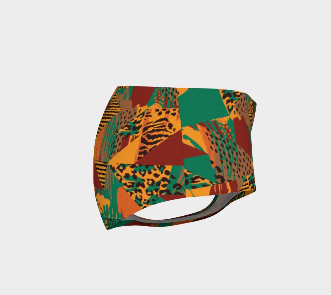 Abstract Safari Print Mini Shorts preview #4