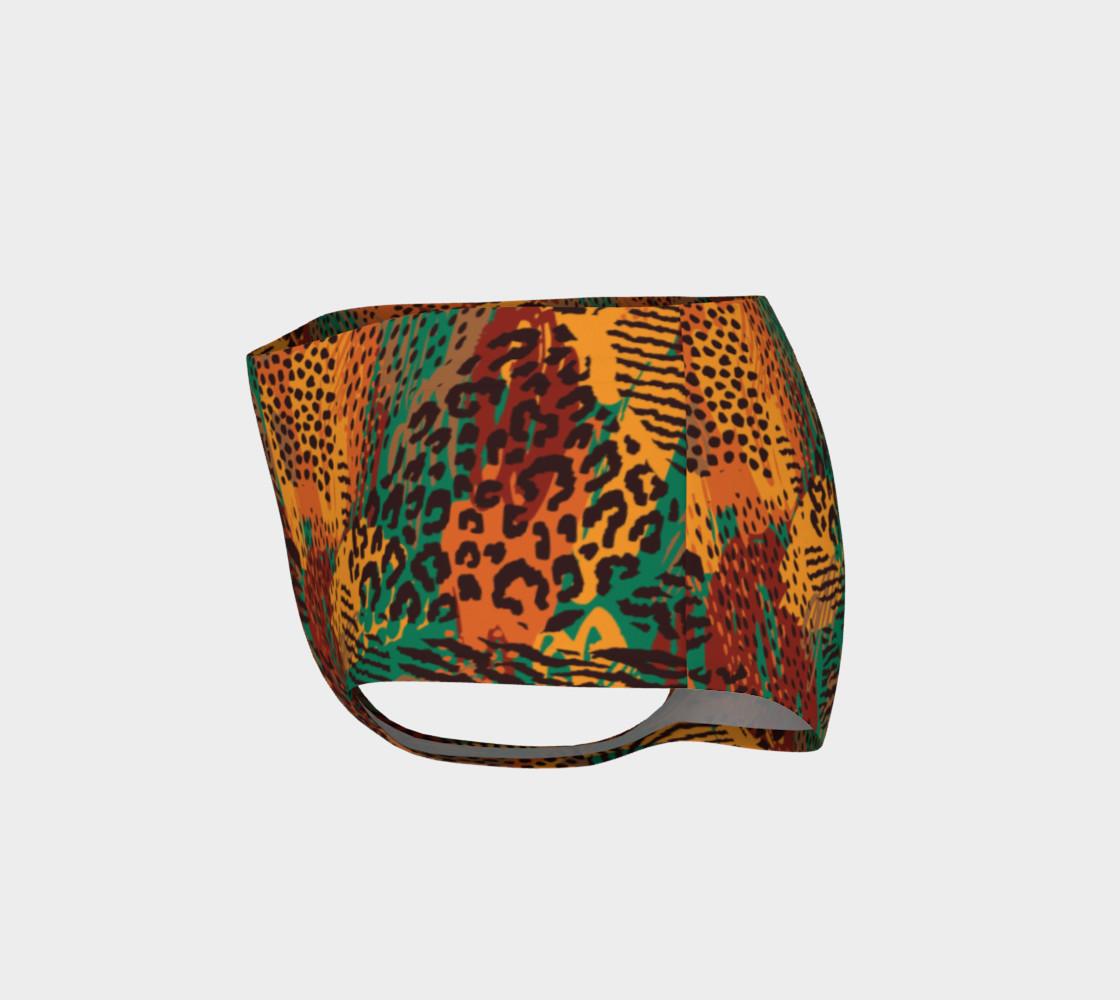 Safari Animal Print Mashup Mini Shorts preview #3
