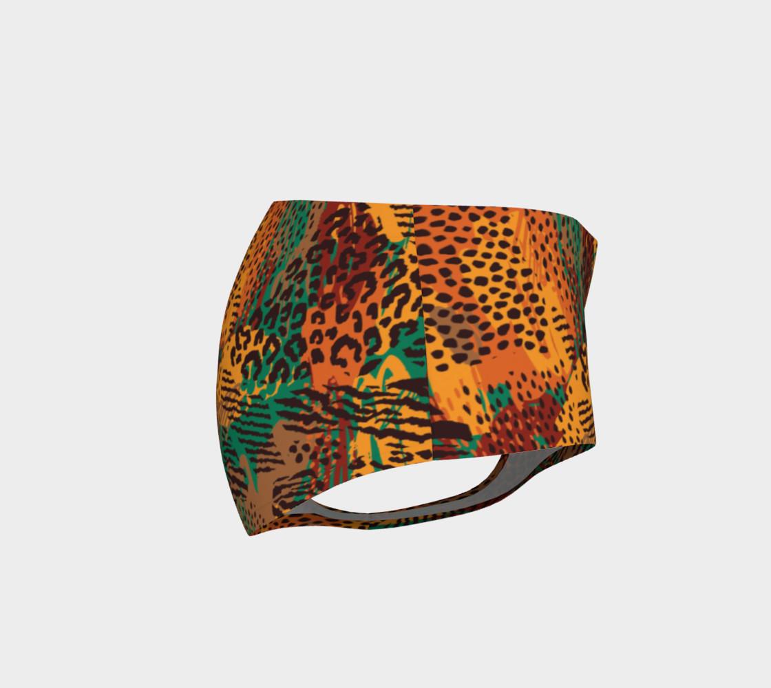 Safari Animal Print Mashup Mini Shorts preview #4