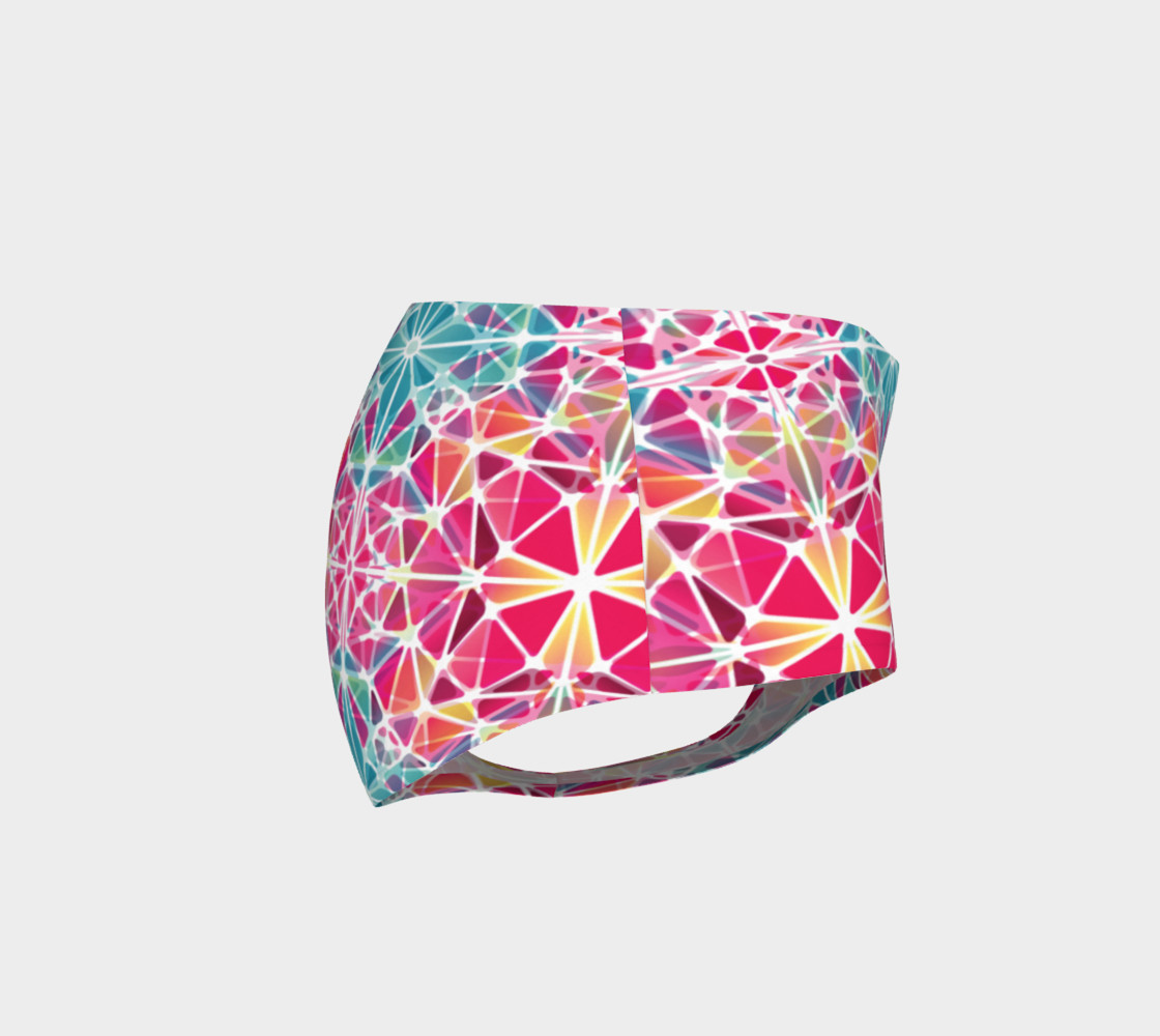Pink and Blue Kaleidoscope Mini Shorts preview #4