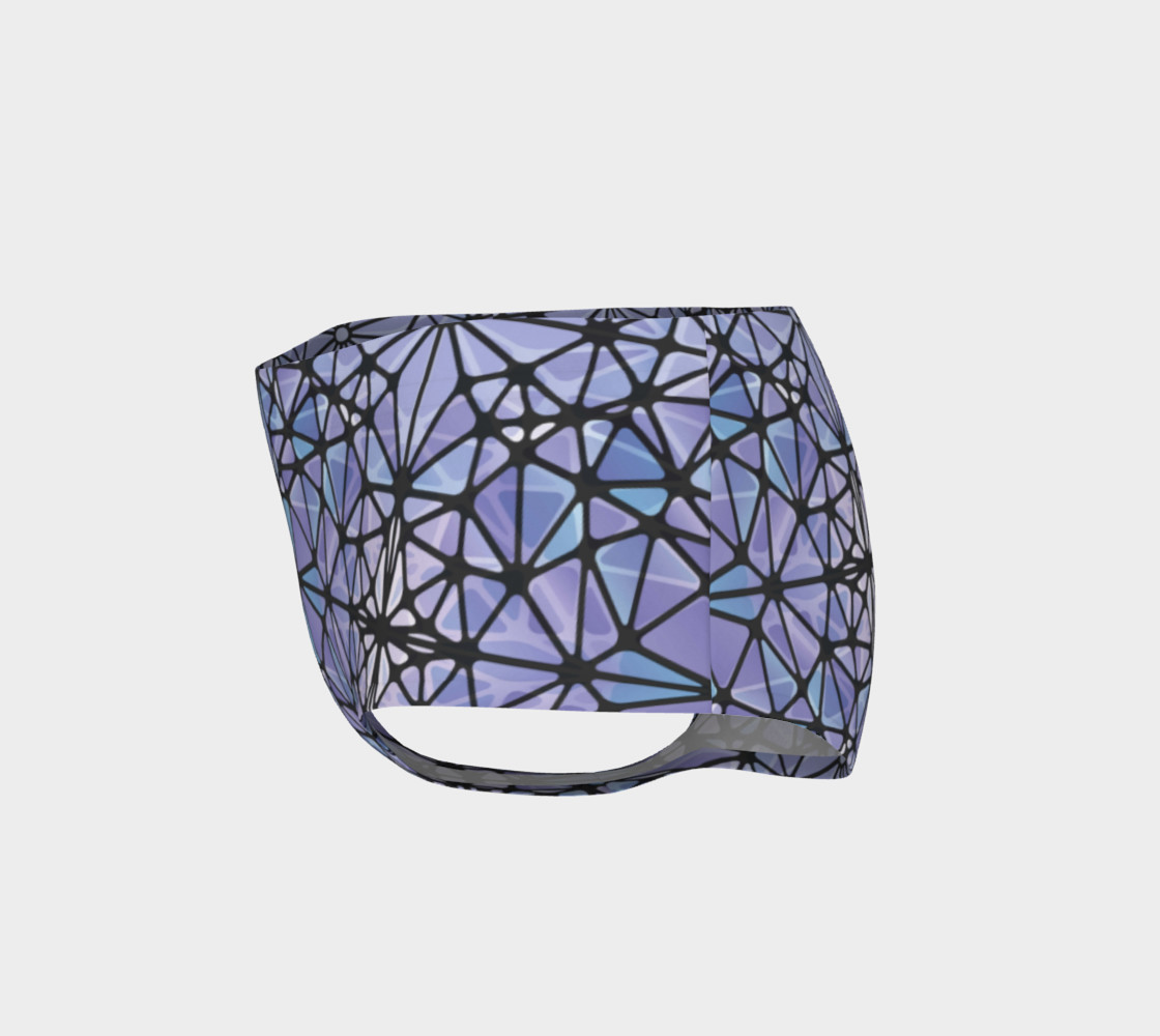 Purple and Blue Kaleidoscope Mini Shorts preview #3