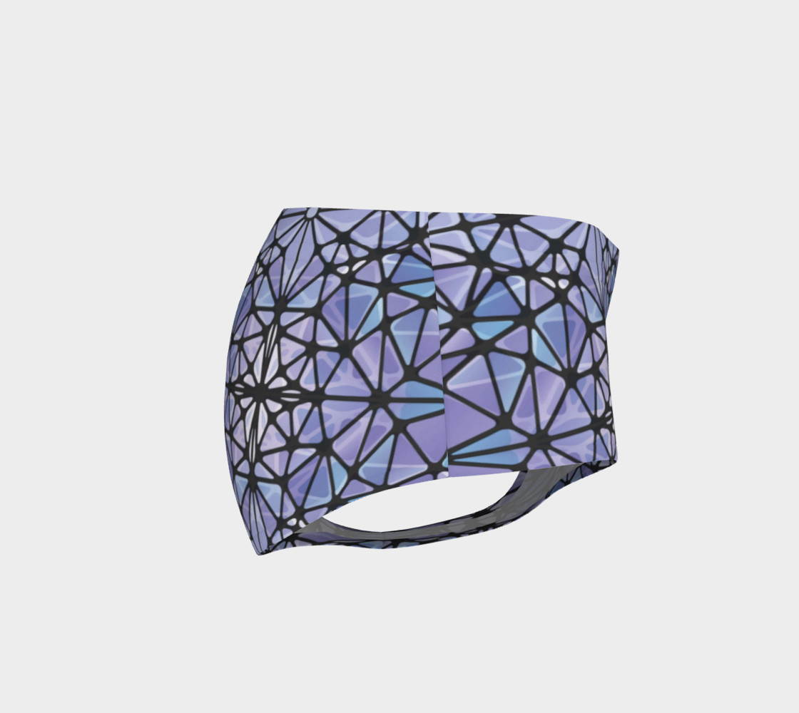 Purple and Blue Kaleidoscope Mini Shorts preview #4
