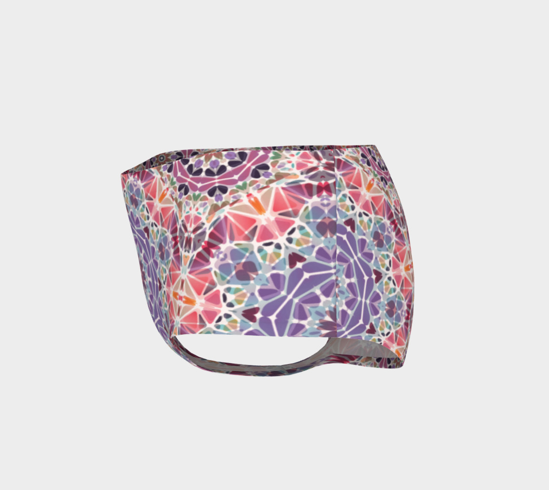 Purple and Pink Kaleidoscope Mini Shorts preview #3