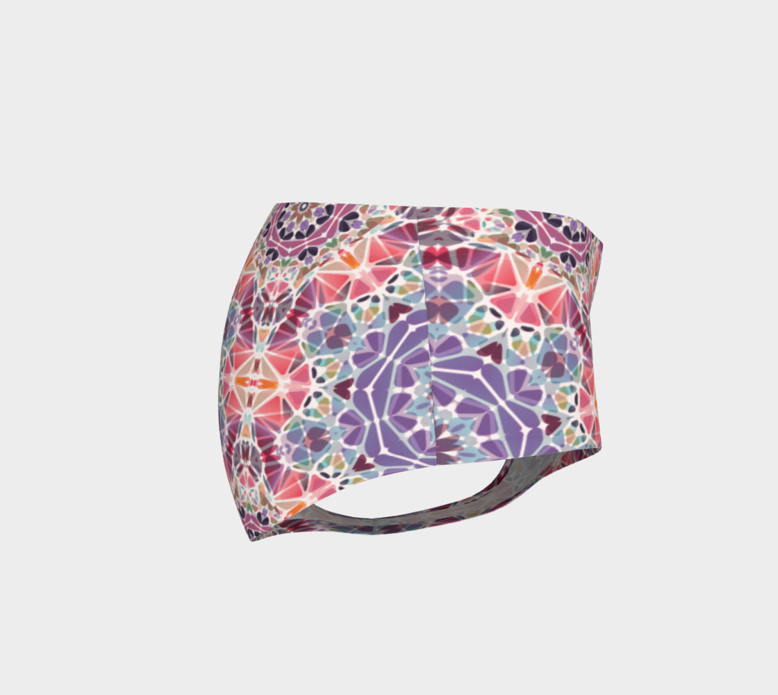 Purple and Pink Kaleidoscope Mini Shorts preview #4