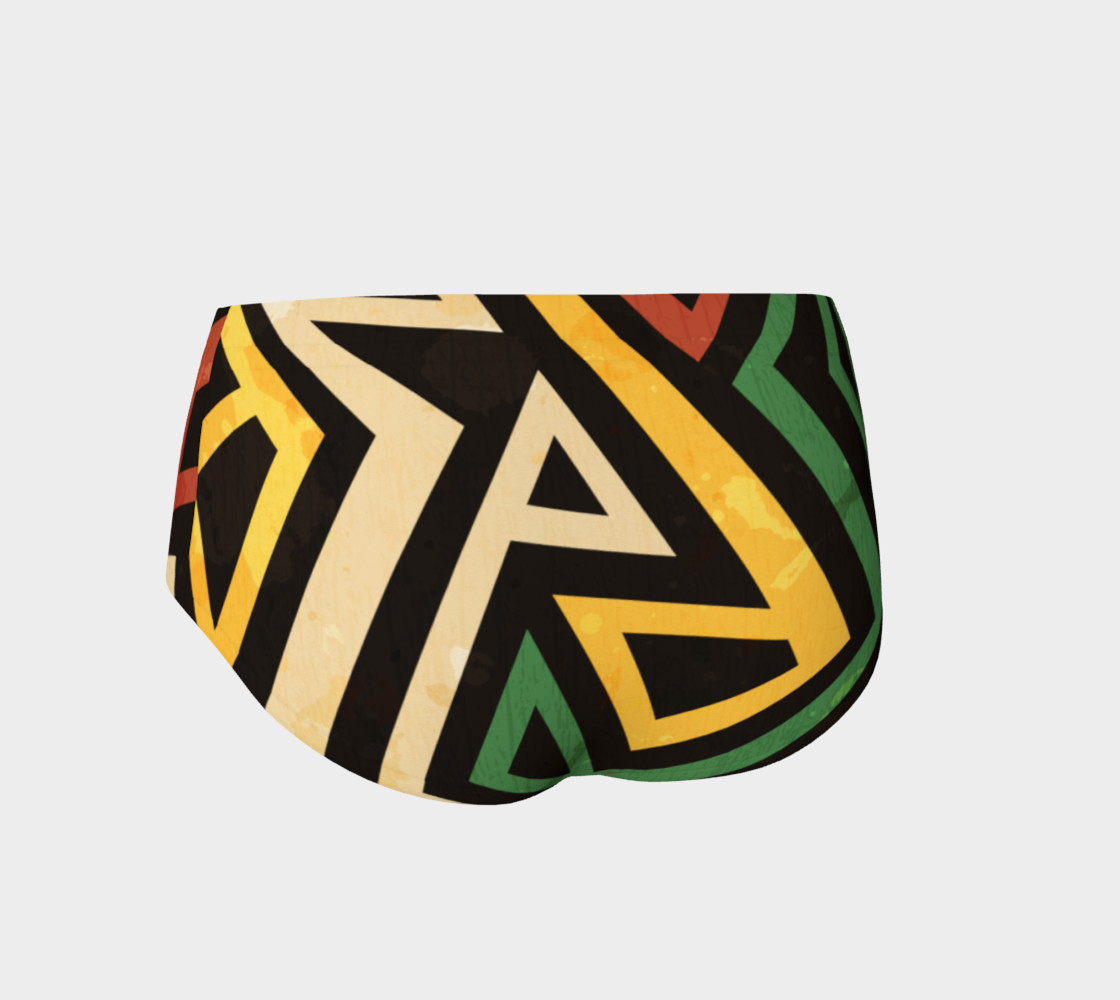 Afrocentric geometric mini shorts (print by Gudinny) preview #2
