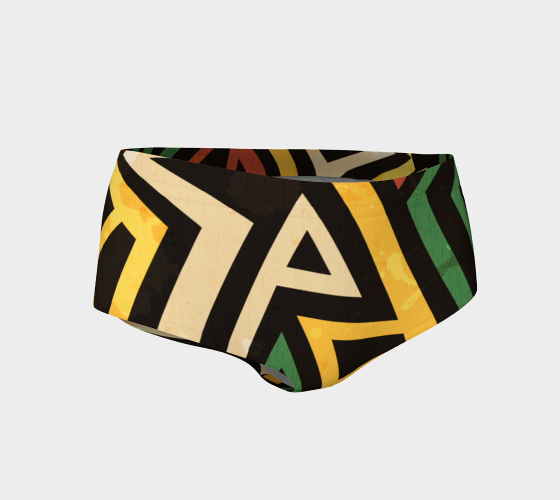 Afrocentric geometric mini shorts (print by Gudinny) preview #1