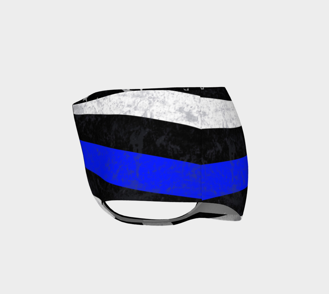 Thin Blue Line Mini Shorts preview #3