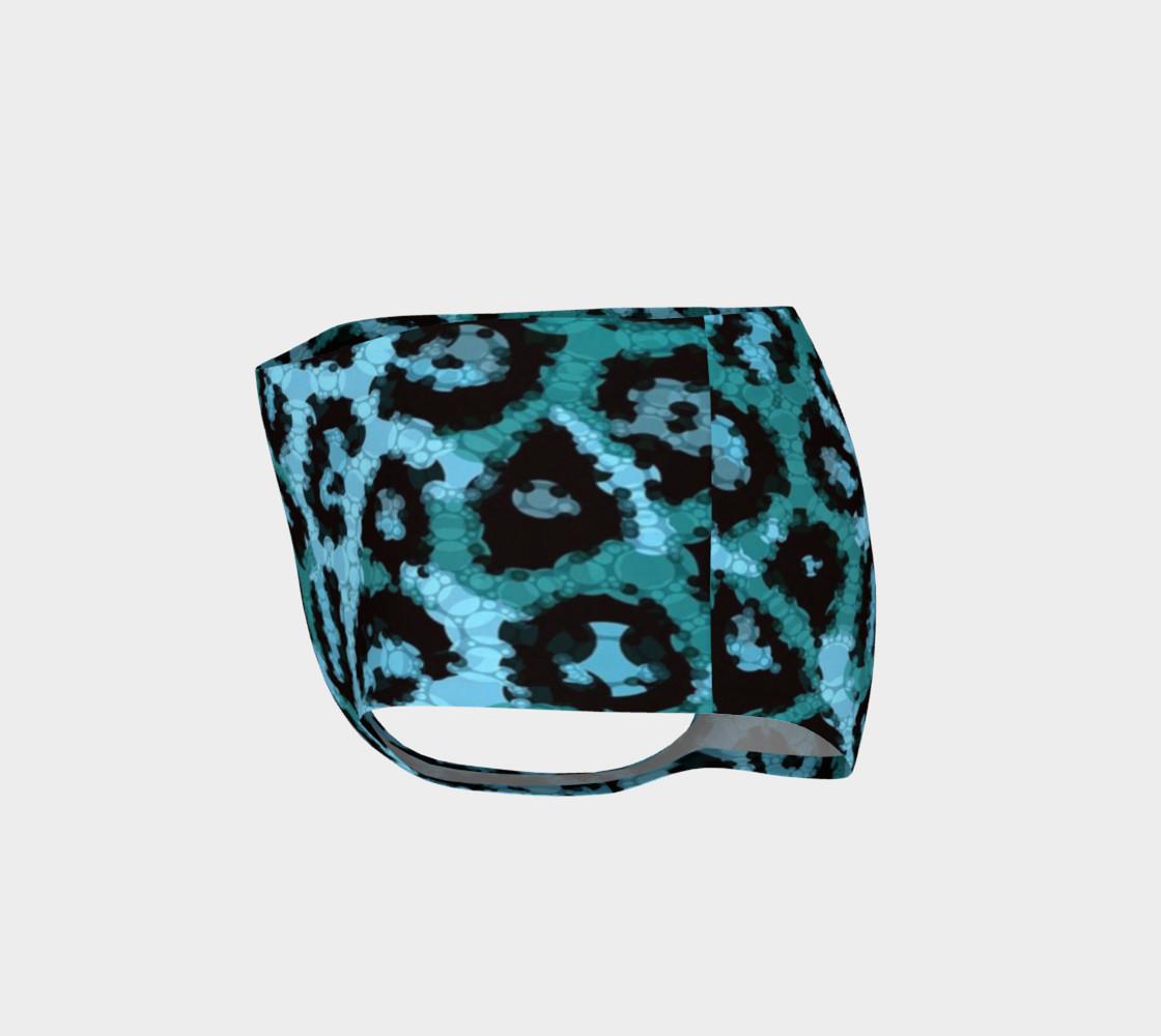 Shocking Turquoise Cheetah Print Mini Shorts  preview #3