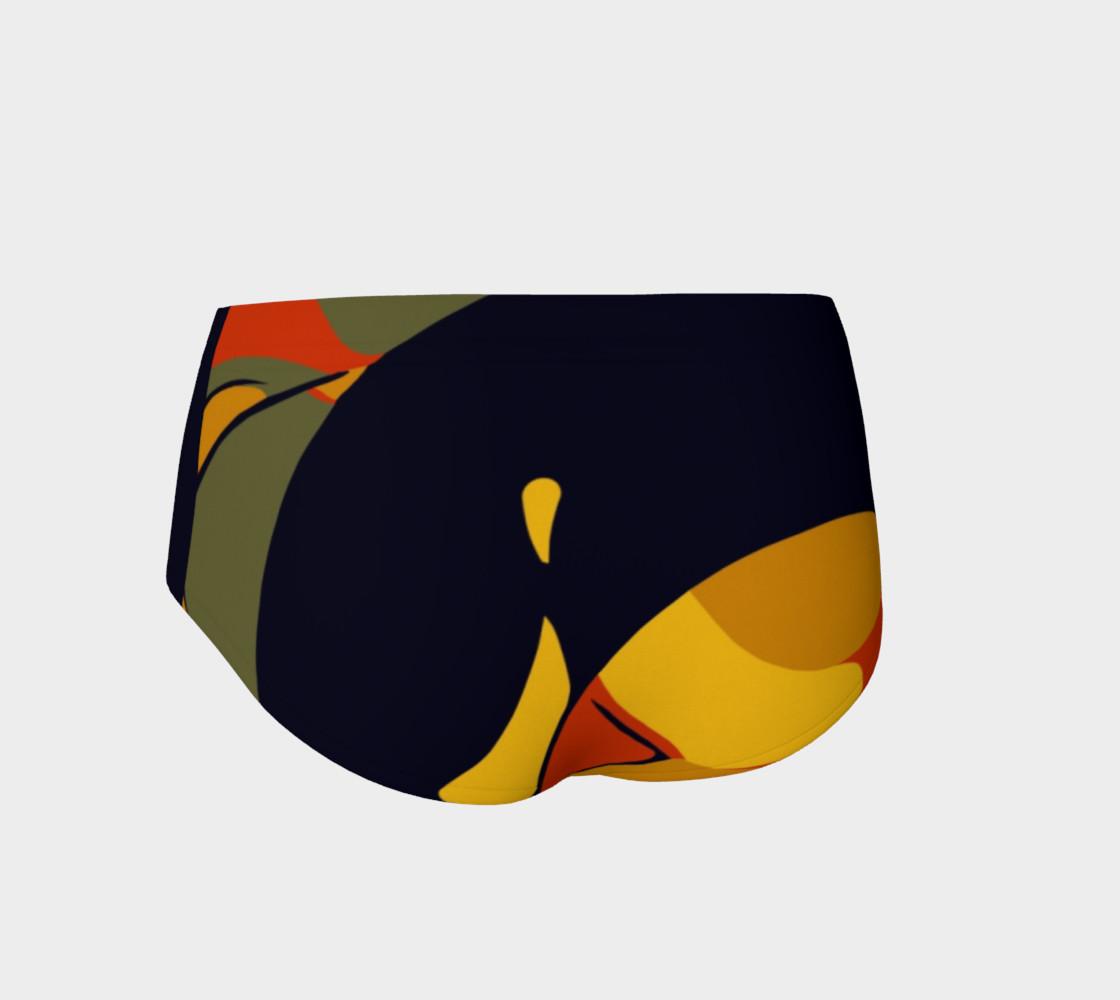 Rasta Geometric Pattern Women's Fitness Mini Shorts  preview #2