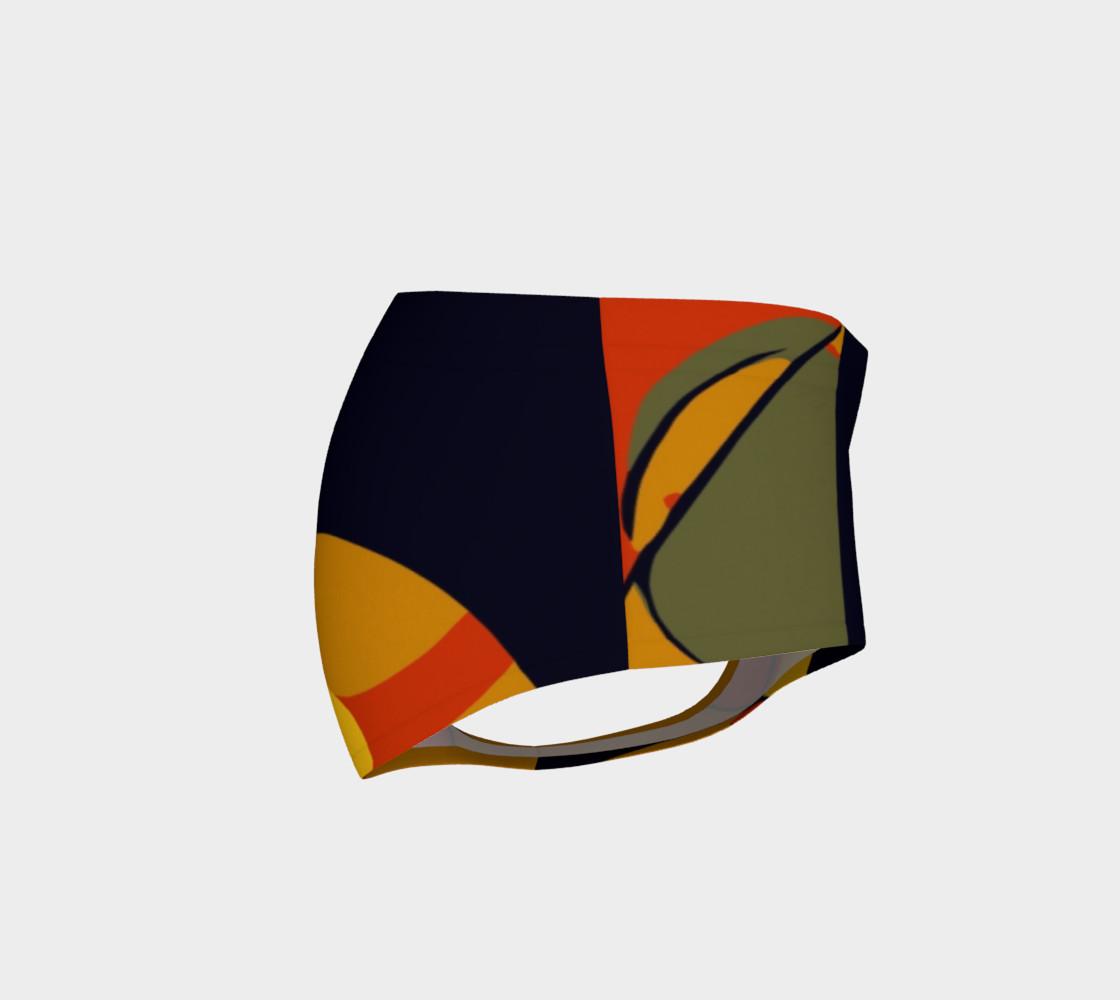 Rasta Geometric Pattern Women's Fitness Mini Shorts  preview #4