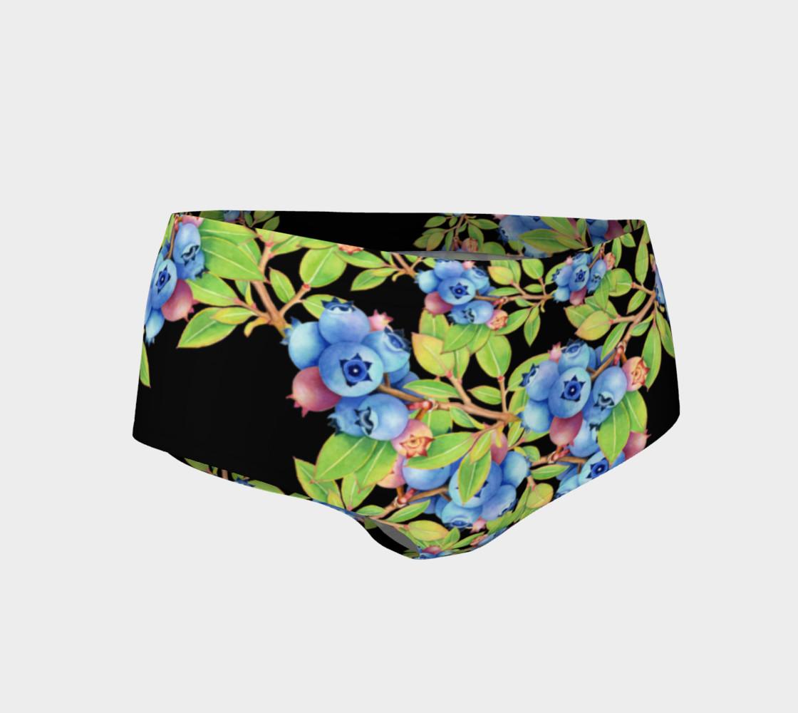 Aperçu de Blueberry Lattice Mini Shorts #1