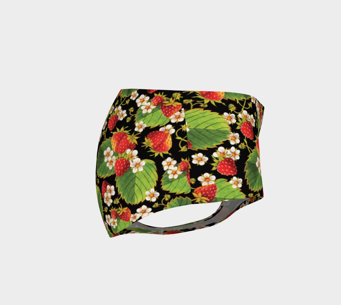 Aperçu de Strawberries on Black Mini Shorts #4
