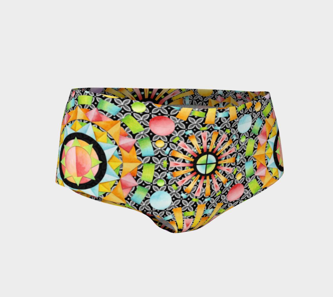 Aperçu de Aurora Geometric Mini Shorts #1