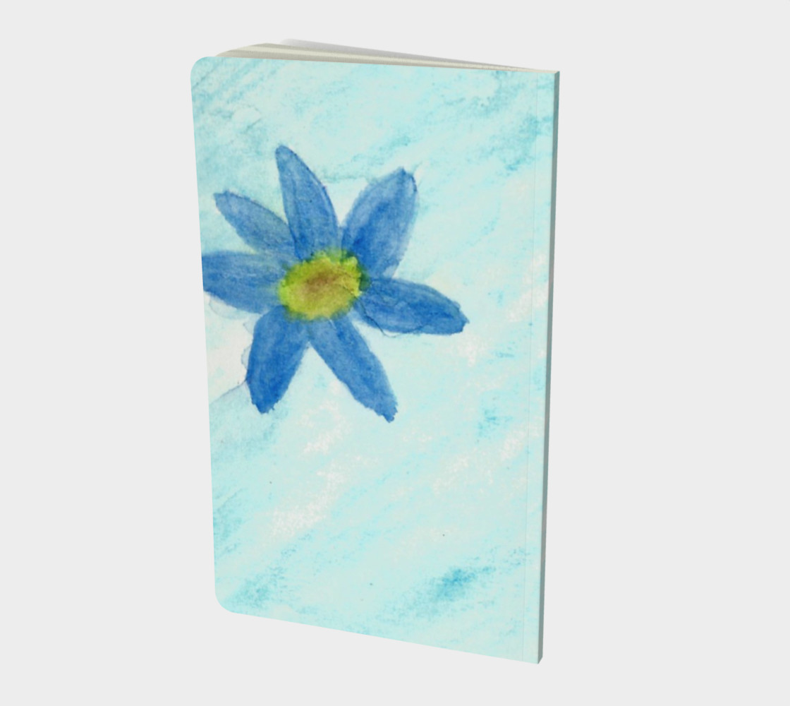 Simply Blue Flowers Small Notebook preview #2