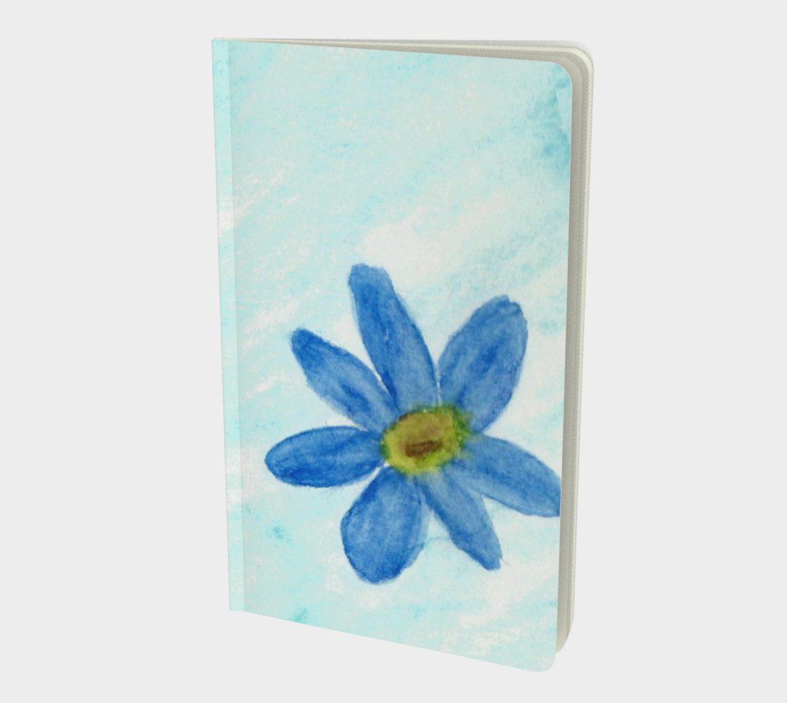 Simply Blue Flowers Small Notebook preview #1