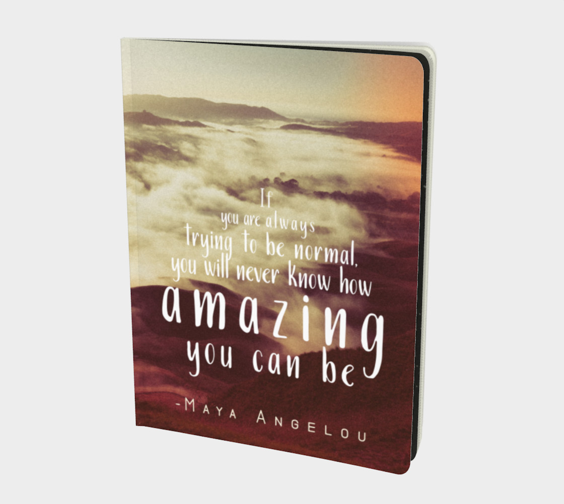 Maya Angelou 'amazing' quote - notebook preview #1