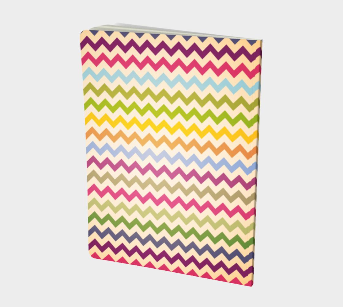 Multicolour chevron - notebook preview #2