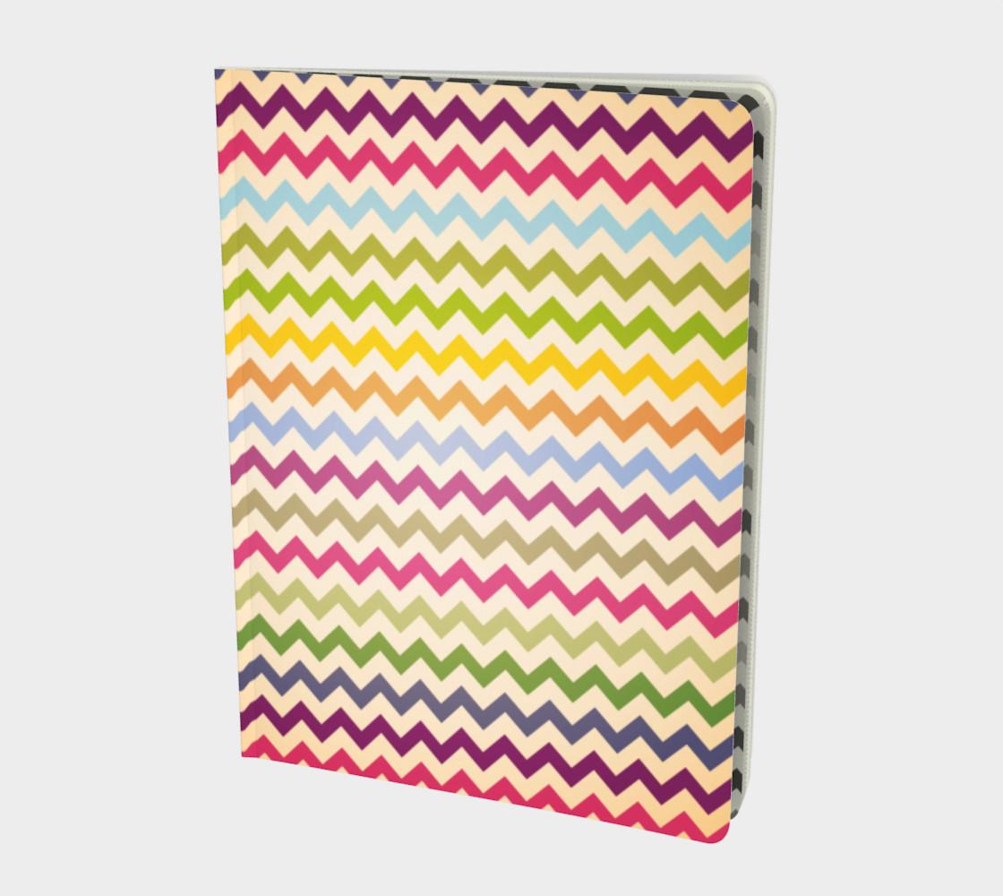 Multicolour chevron - notebook preview #1