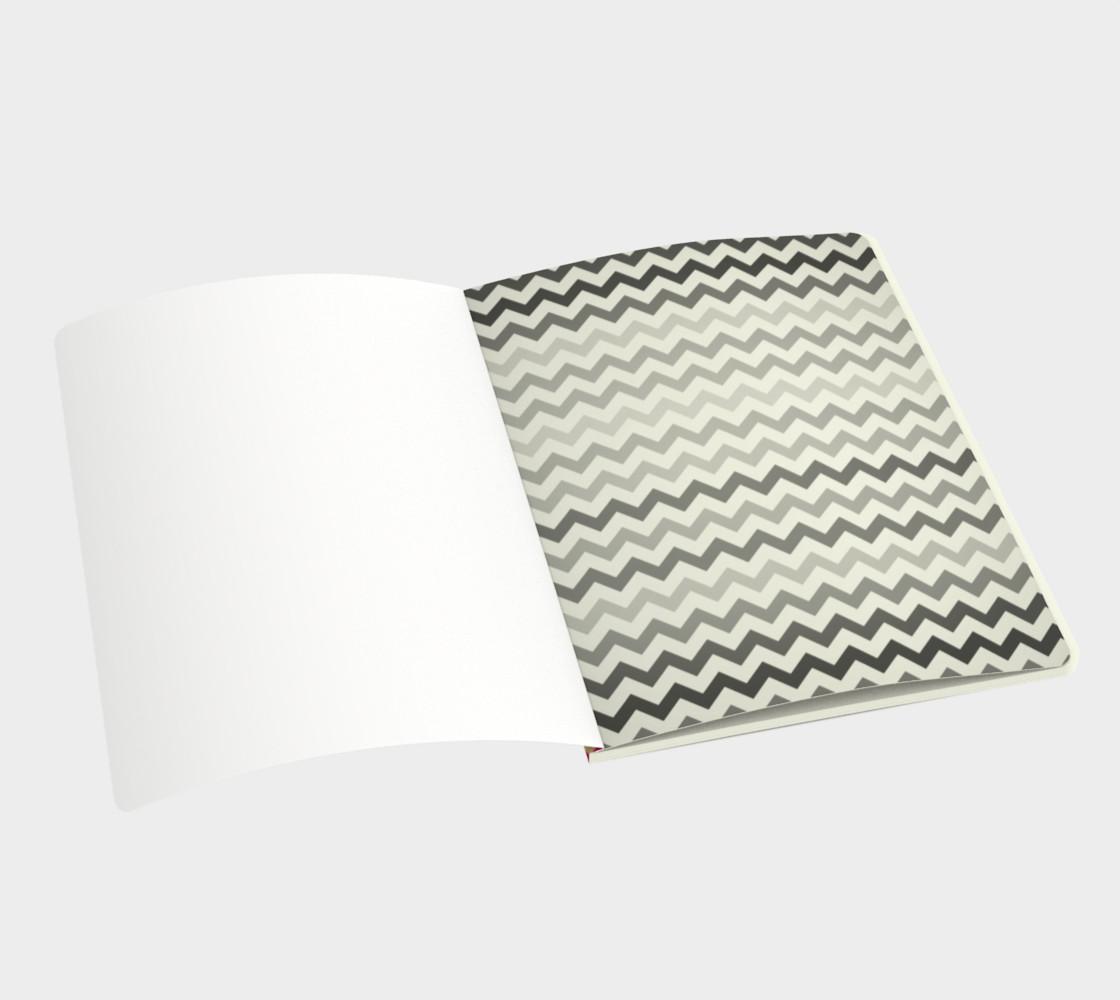 Multicolour chevron - notebook preview #3