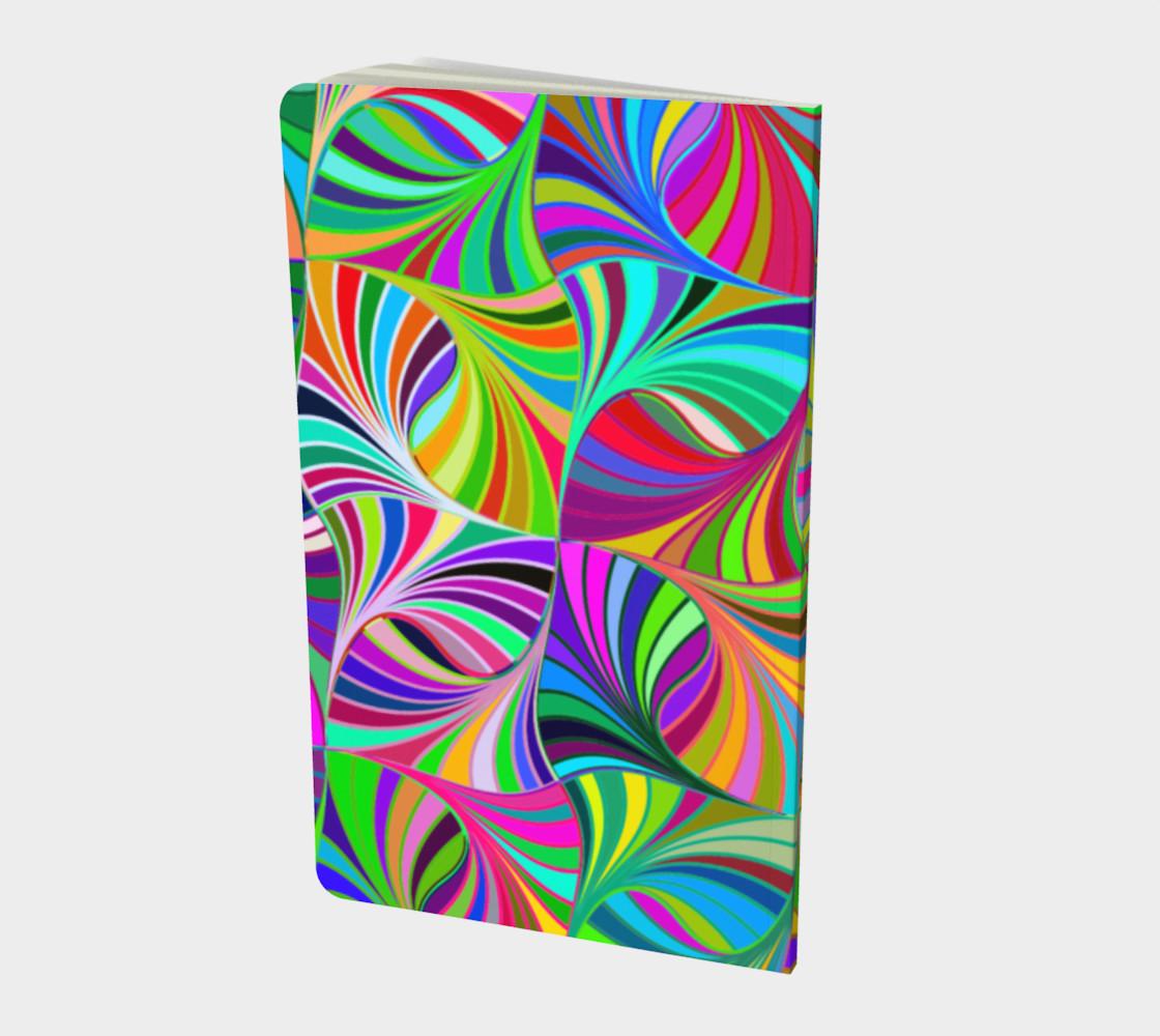 Sugar Skulls Circular Colorful Geometric Abstract Small Notebook  preview #2