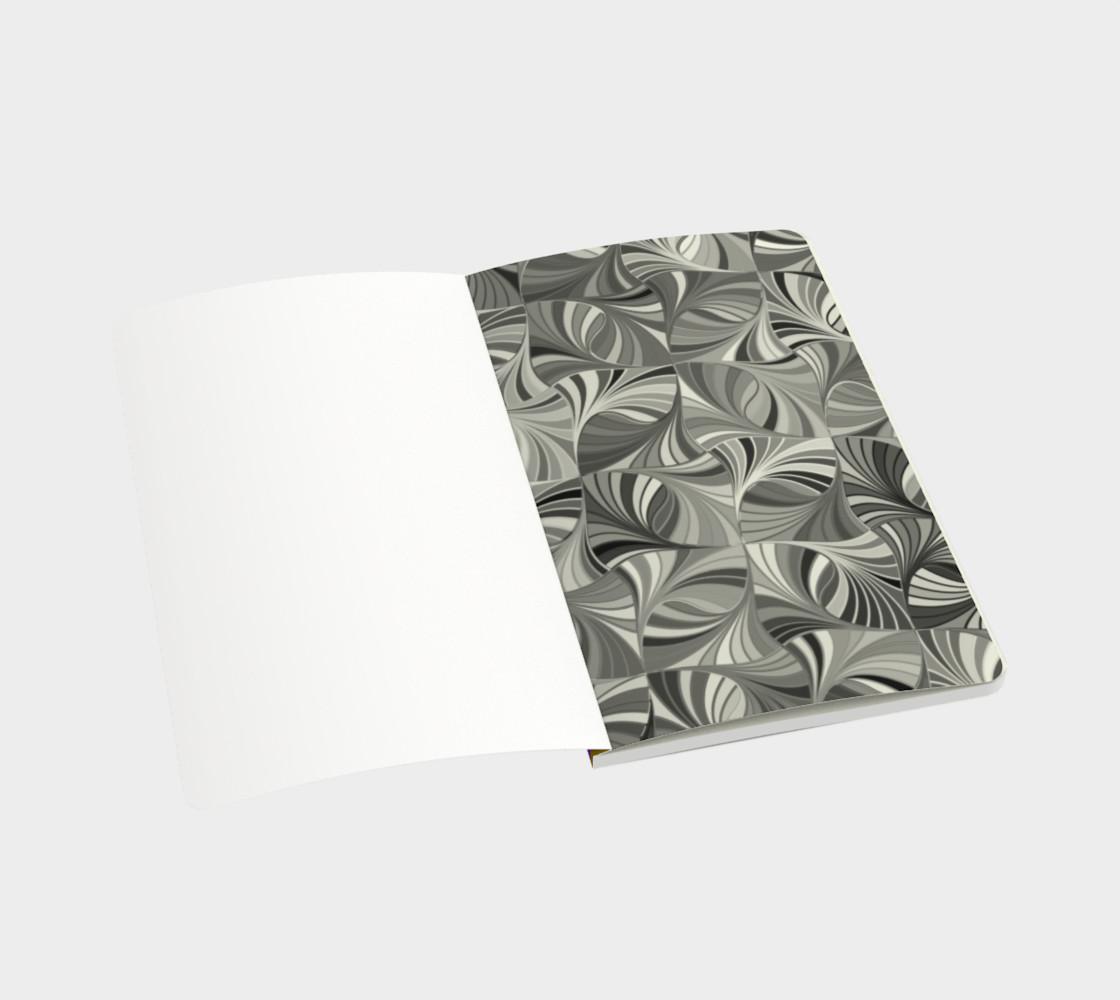 Sugar Skulls Circular Colorful Geometric Abstract Small Notebook  preview #3