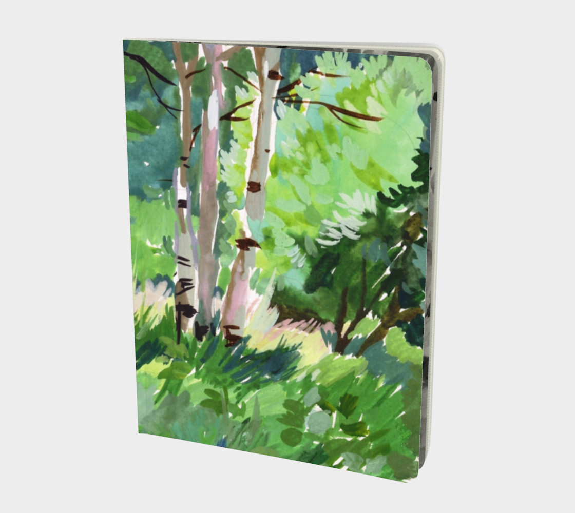 Watercolor Summer Grove Landscape preview #1