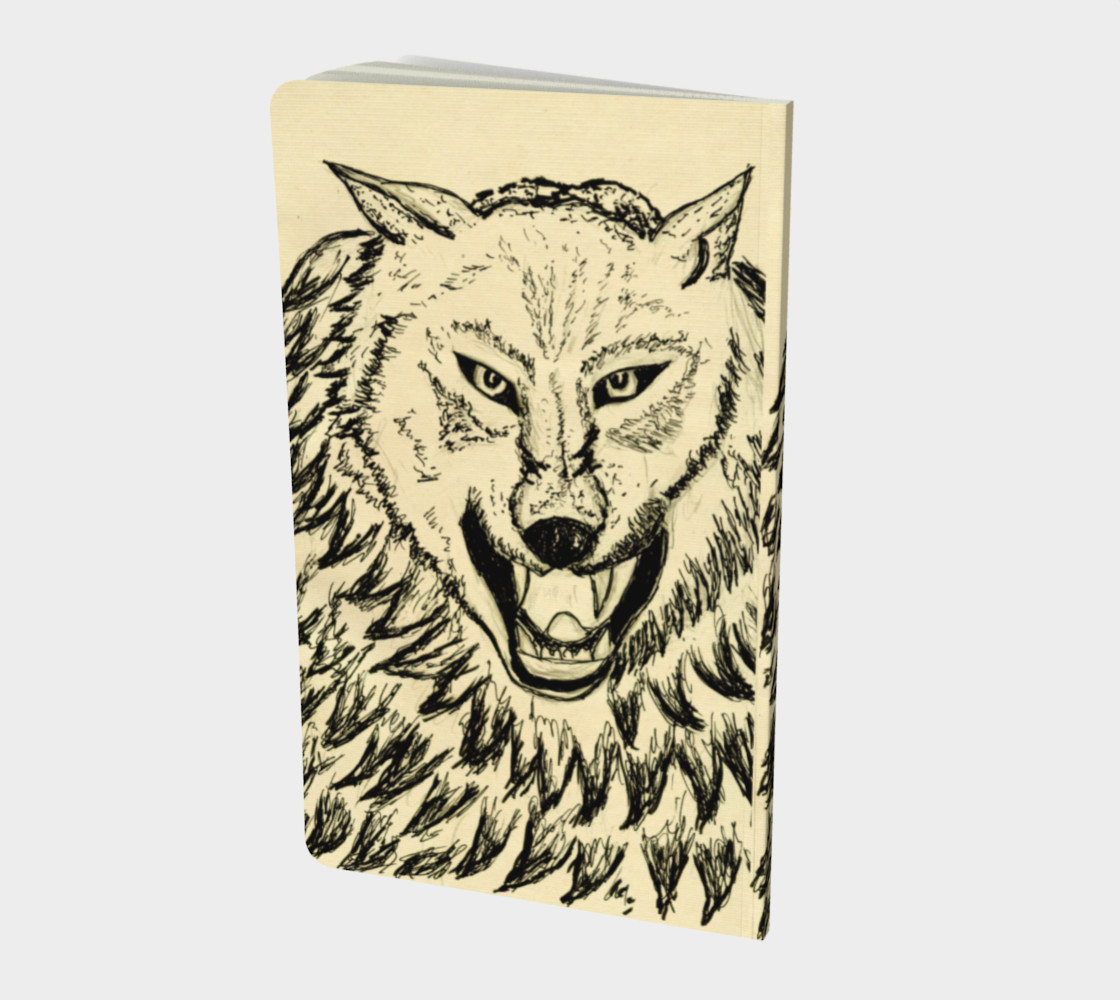 Angry wolf sketch preview #2