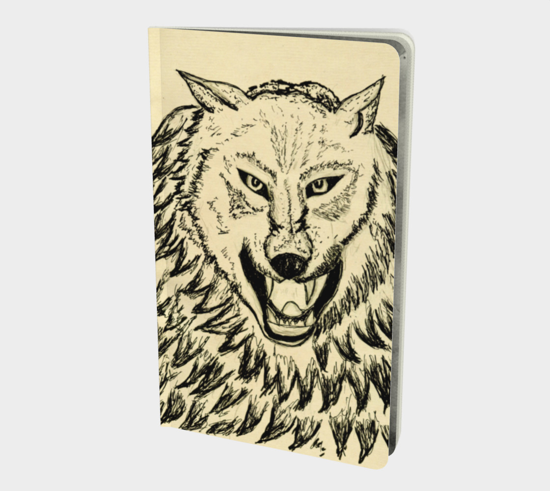Angry wolf sketch preview #1