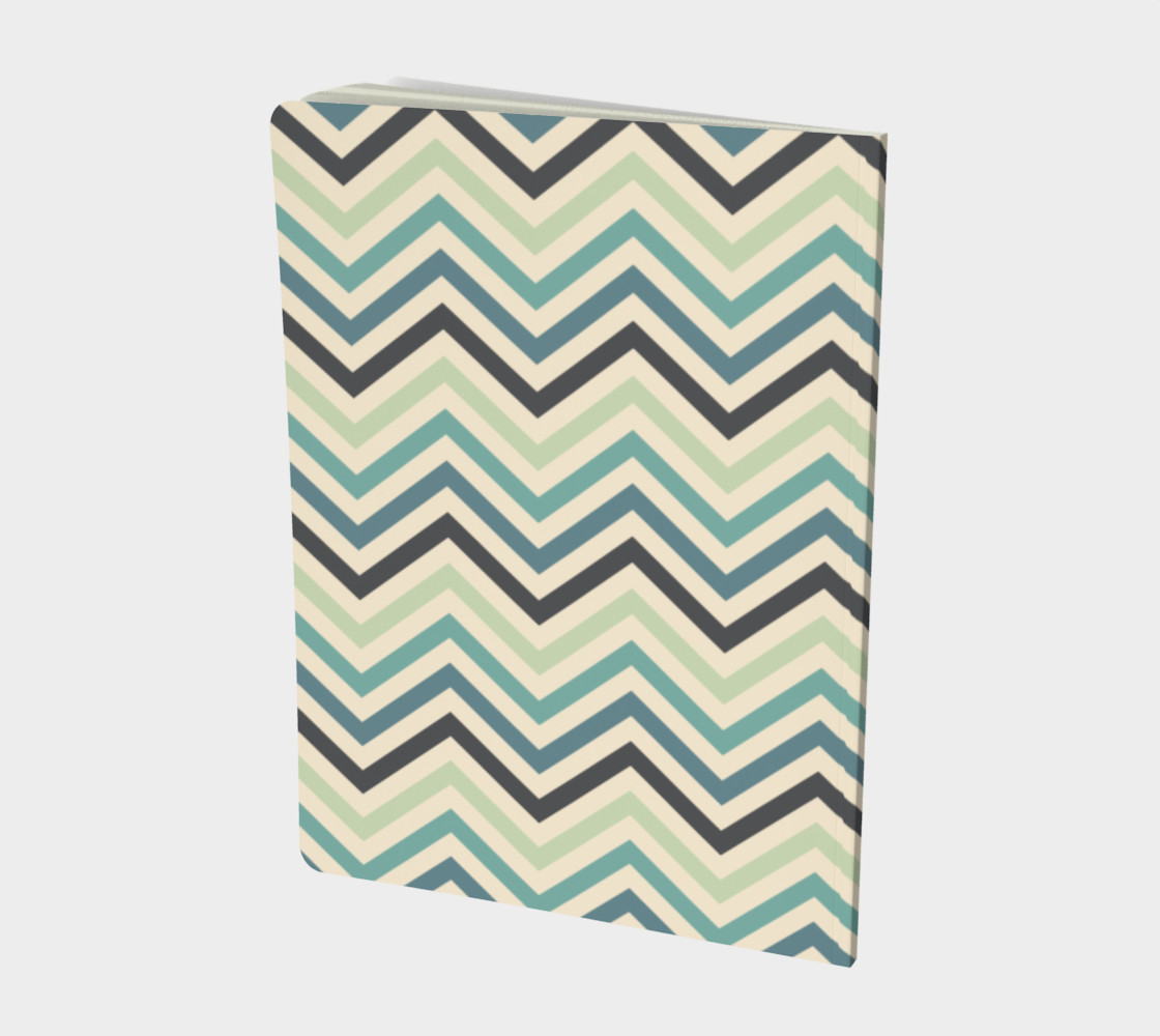 Teal chevron - notebook preview #2